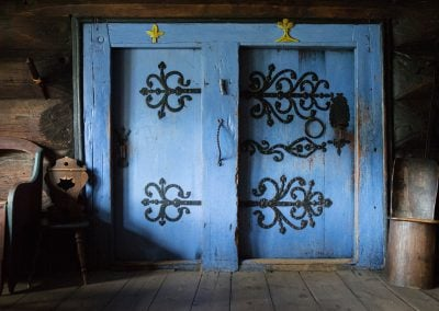 dører, Lagmannsstova, Agatunet, blå, interiør