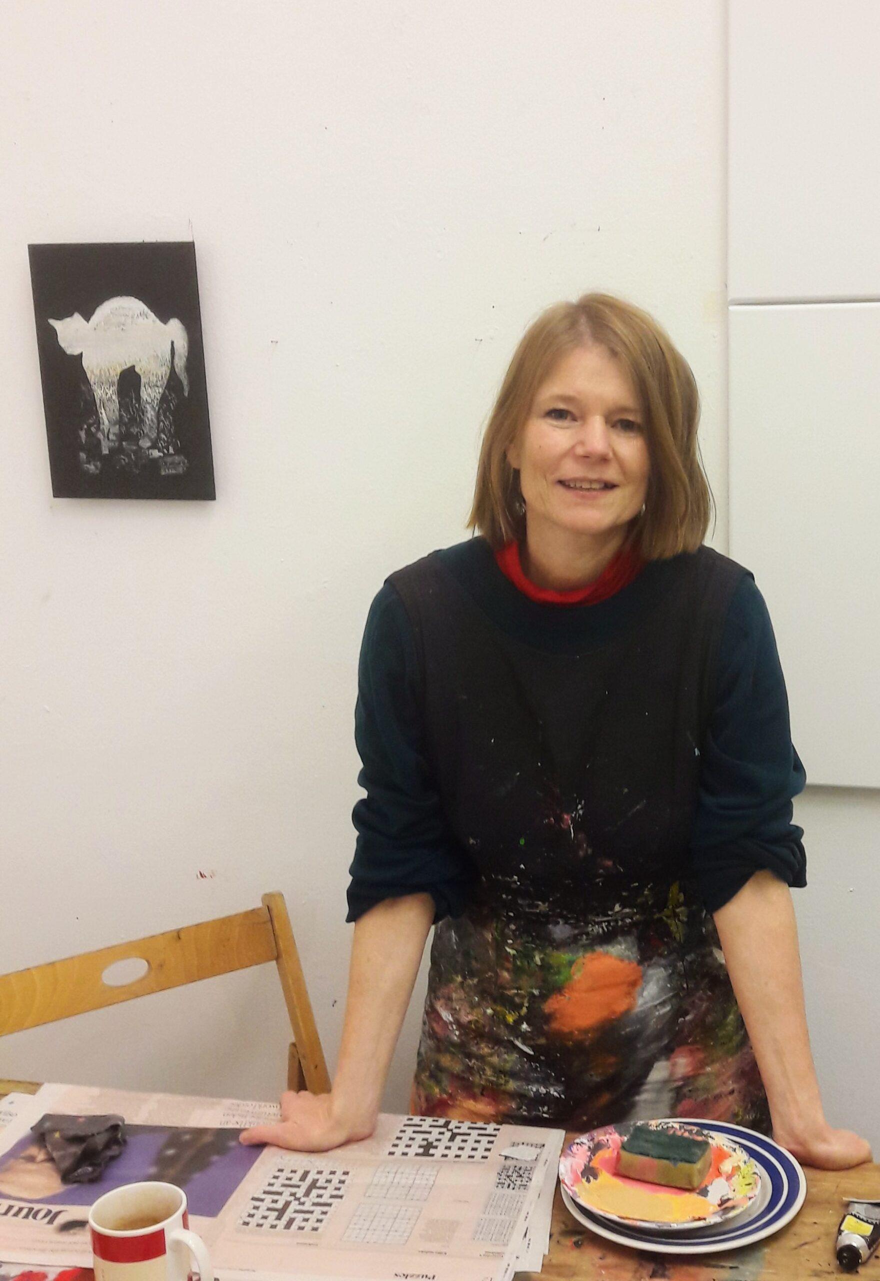 Felicitas Aga i sitt atelier i London